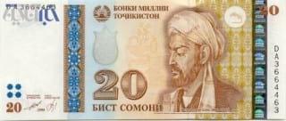 اسکناس کشور تا جیکستان با تصویر ابن سینا