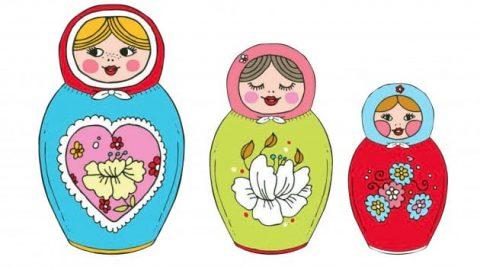 عروسک های رومیزی روسی