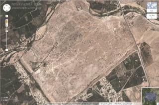 نقشه ماهواره ای شهر ساسانی بیشاپور