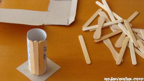 آموزش ساخت جا مدادی با چوب بستنی