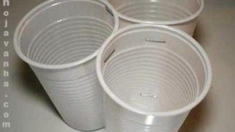 کاردستی لوستر با لیوان یک بار مصرف