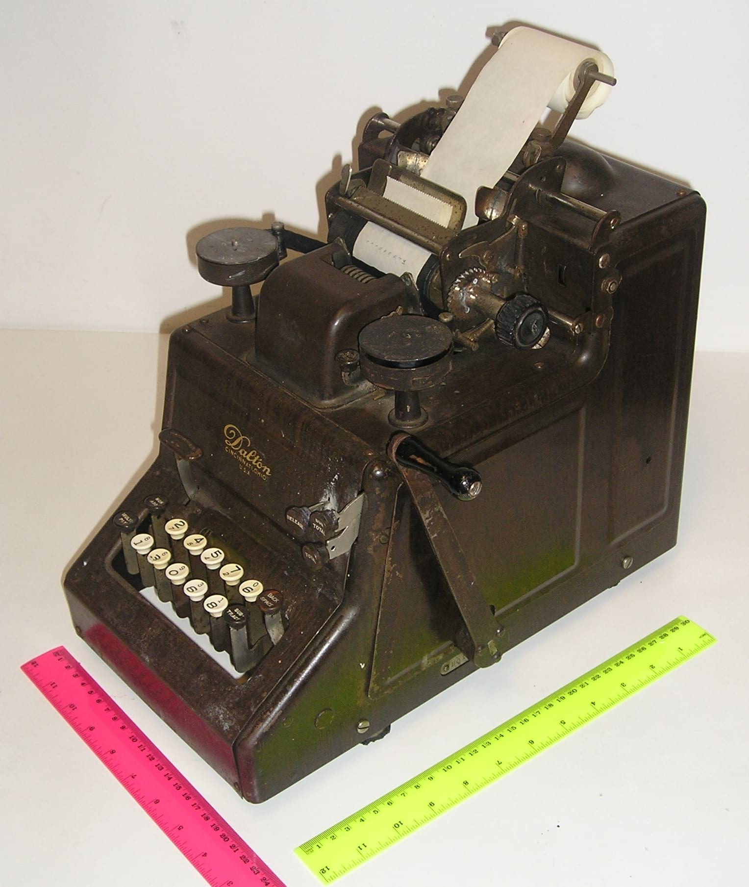 What Is An Old Fashioned Adding Machine Called