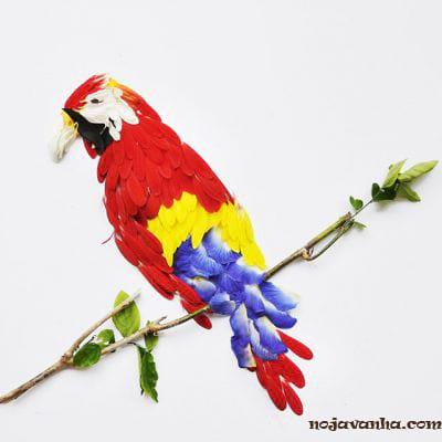 پرنده های زیبای ساخته شده از گلبرگ گل ها
