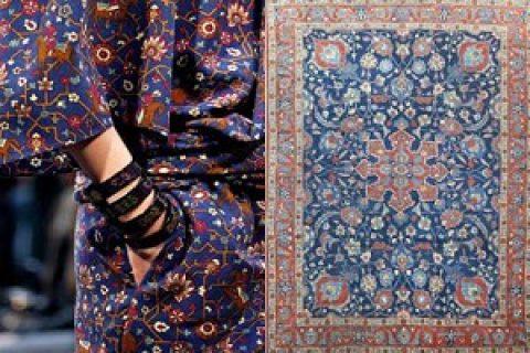 نقش فرش ایرانی بر جدیدترین مدل های لباس دنیا