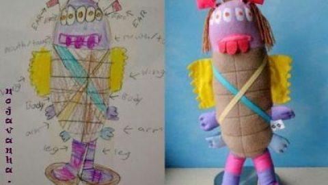 ساخت عروسک از نقاشی کودکان