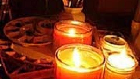 عکاسی با نور شمع