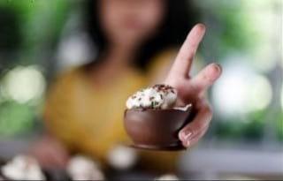 آموزش ساخت ظرف بستنی شکلاتی