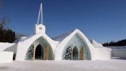 تصاویری از یک هتل یخی شگفت انگیز در کانادا