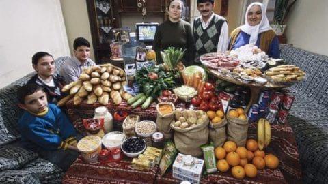خوراک هایی که مردم جهان در یک هفته می خورند