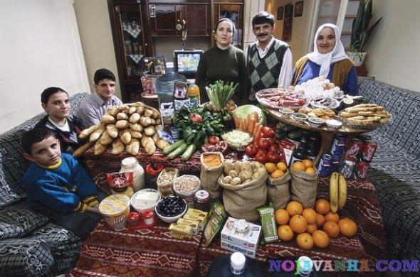 خانواده و غذاهایی که مصرف می کنند