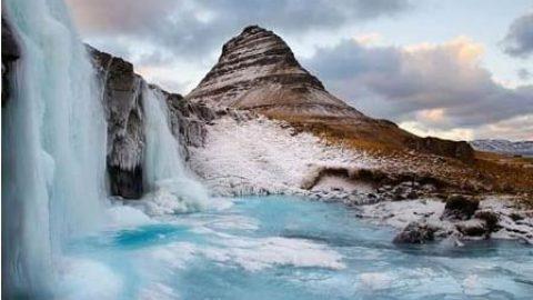 تصاویر زیبا از آبشارهای منجمد