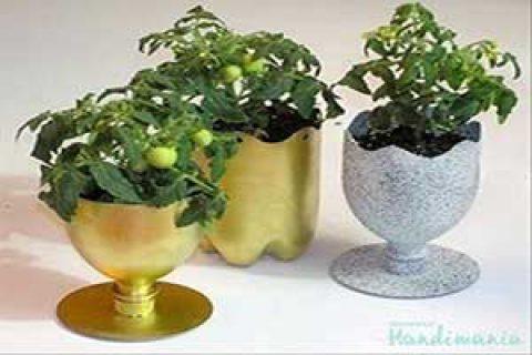 طرز ساخت کاردستی خلاقانه گلدان با بطری نوشابه