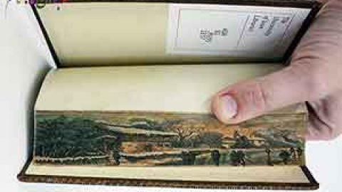 نقاشی های پنهان در لبه کتاب ها