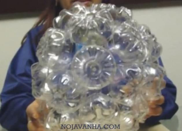 لوستر با بطری آب معدنی
