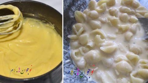 غذای اردویی؛ ماکارونی با پنیر