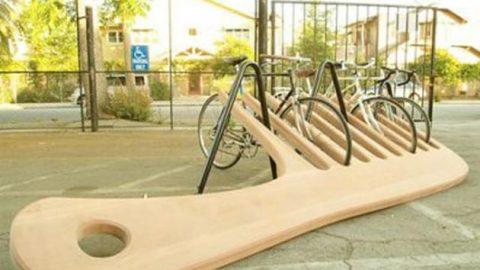 پارکینگ دوچرخه با طراحی خلاقانه