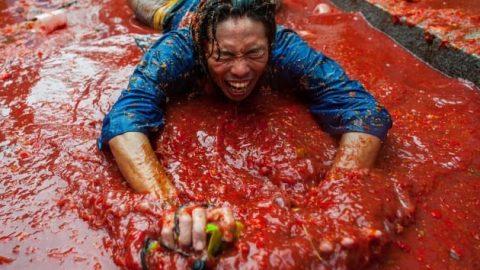 جشن گوجه فرنگی در اسپانیا