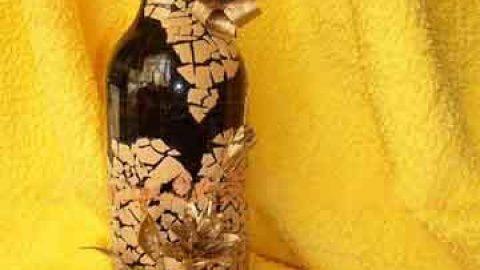 کاردستی موزائیک روی شیشه با پوست تخم مرغ