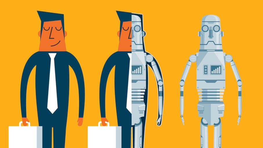 تقابل انسان و ربات