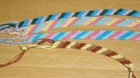 آموزش بافتن دستبند ساده