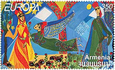 armenia-children-books-stamp