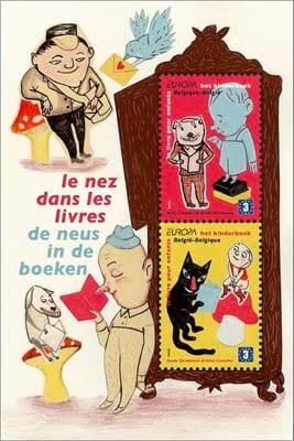 belgium-children-books-stamp