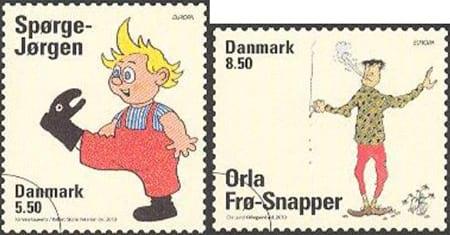 denmark-children-books-stamp