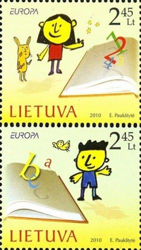 lithuania-children-books-stamp