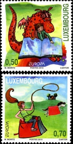 luxembourg-children-books-stamp