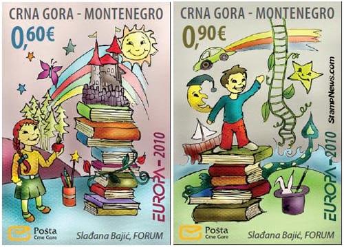 montenegro-children-books-stamp