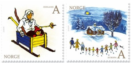 norway-children-books-stamp