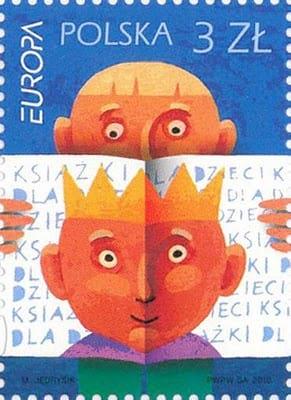 poland-children-books-stamp