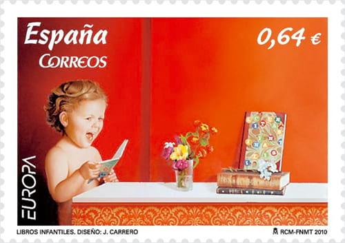 spain-children-books-stamp