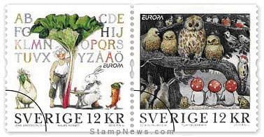 sweden-children-books-stamp