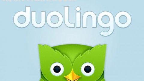 نرم افزار آموزش زبان duolingo