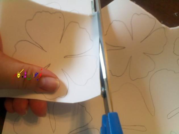 برش الگوی گل مقوایی