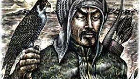 چنگیز خان مغول و شاهین پرنده