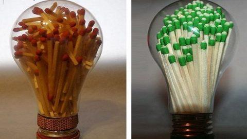 کاردستی با لامپ سوخته