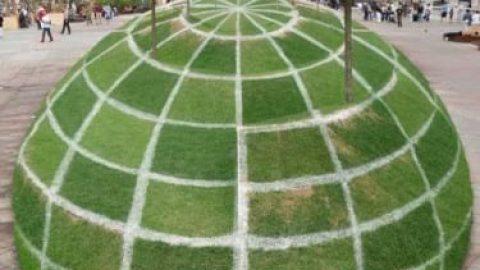 این باغچه مسطح است یا کروی ؟