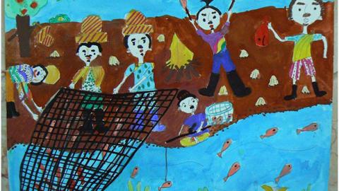 راه یابی آثار نقاشی اعضای کانون پرورش فکری کودکان و نوجوانان در جشنواره بین المللی