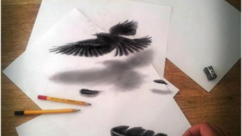 نقاشی های سه بعدی توهم زا