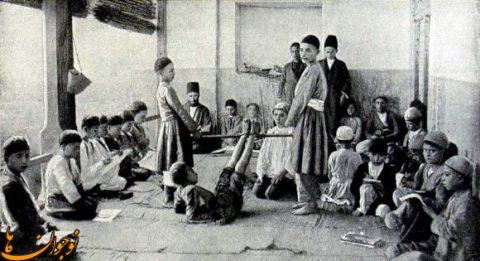 شیطنت های کودکان دوره قاجار در مکتب خانه