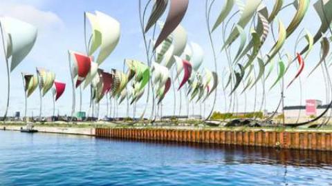 تولید انرژی پاک از بادبان های رنگارنگ