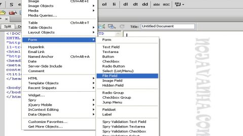 سایت من (file field) یا input