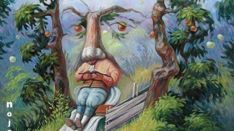 چه چیزی می بینید؛ دانشمند یا درخت سیب؟