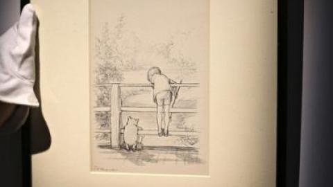 یکی از تصویرسازی های داستان مشهور وینی پو به حراج می شود