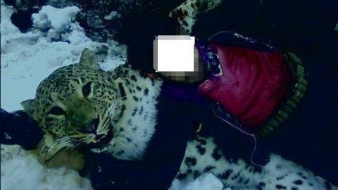 تصاویر گوشی تلفن همراه شکارچی لحظاتی پس از کشتن پلنگ ایرانی