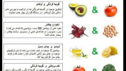 غذاهایی که بهتر است با هم خورده شوند