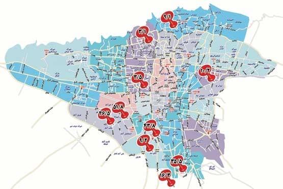 میزان آلودگی آب مناطق مختلف تهران مشخص شد
