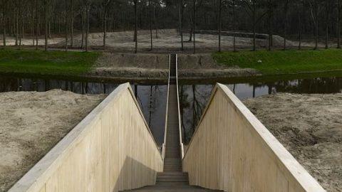 پلی که از درون رودخانه میگذرد